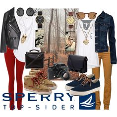 """two friends / Take a Road Trip Down the Coast With Sperry Top-Sider"" by agfs on Polyvore"
