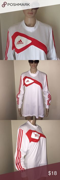 👟. Adidas. Work out 🏃♀️ Exercise shirt 🏃♀️ Awesome excellent condition. Fast ship. Padded elbows.  Clima-cool Adidas Tops