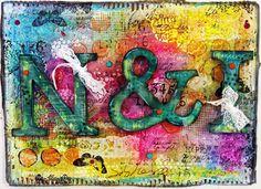 My Embellished World: Mixed media door hanger!