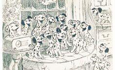 Concept art for 101 Dalmatians