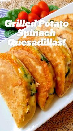 Mexican Food Recipes, Vegetarian Recipes, Cooking Recipes, Healthy Recipes, Indian Recipes, Healthy Snacks, Quesadillas, Good Food, Yummy Food