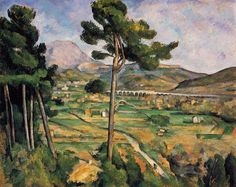 Mont Sainte-Victoire and the Viaduct of the Arc River Valley, 1882-85, Paul Cezanne