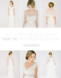 Win a free wedding dress from the 2013 Saja Collection