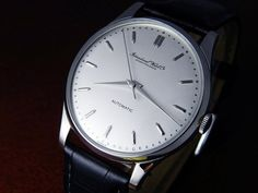 Vintage Mens IWC SS Automatic Silver Dial Cal.853