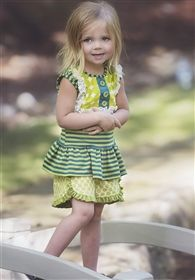 Persnickety Clothing - Forget Me Not Tillie Short in Green Dot
