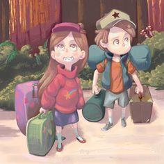 Mabel Pines, Dipper Pines, Gravity Falls