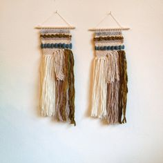 Mini Handwoven Wall Hanging // Weaving // by NicolleMarieandCo