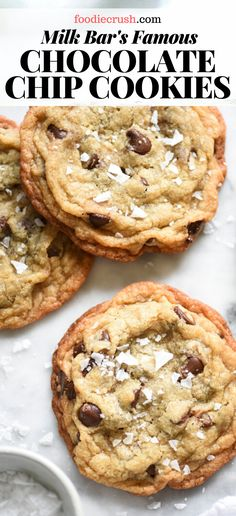 These soft, chewy chocolate chip cookies are the fastest homemade cookie recipe I've ever made and they come together in just one bowl, no mixer required. Crispy Chocolate Chip Cookies, Homemade Chocolate Chip Cookies, Chocolate Chip Recipes, Chocolate Chip Oatmeal, Salted Cookies Recipe, Cookie Recipe No Milk, Chicolate Chip Cookies, Secret Chocolate Chip Cookie Recipe, Homemade Milk Chocolate