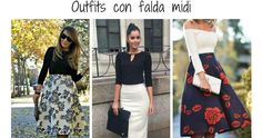 Outfits elegantes con falda midi