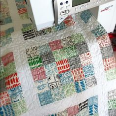 """I'm using the dogwood quilting tutorial from Oh Fransson and it is crazy fun."" - Camille Roskelley"