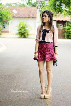Blog da Lê-Moda Acessível: Zebra Pink