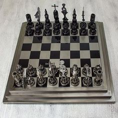 Nicks. Dings. Scratches. Burns. Chess is a warriors game and each of these rugged sets are custom made from real reclaimed car parts and retain their battle-weary charm. Enjoy the relaxation and appre