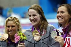 Missy Franklin solid GOLD!  Elizabeth Beisel wins the Bronze.  1st time in 40 years that women have brought the gold in the 200m backstroke!  WOW!