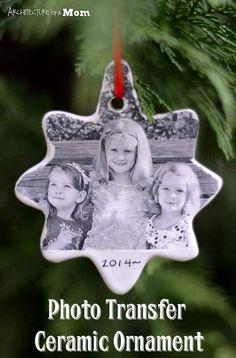 DIY Photo Transfer Ceramic Ornaments | Heartwarming DIY Photo Ornaments To Craft For Christmas