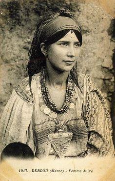 DEBDOU (MAROC) UNE FEMME JUIVE 1914