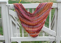 Free Shawl Pattern-Red Heart Boutique Treasure in Abstract