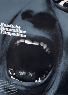 Paul Bruhwiler (designer), Russische Stummefilme - Filmpodium, 1975.