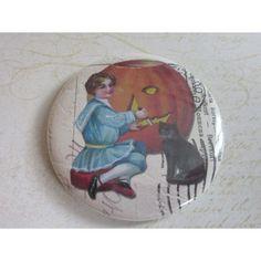 Miroir de sac, miroir de poche, accessoire, sac à main, beauté, mode,Halloween 7   http://romantic-garden.fr/