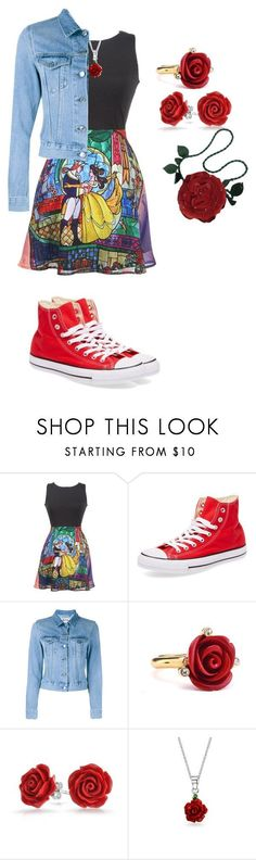 """""""She's Beauty and The Beast!"""" by cherrysama101 on Polyvore featuring Disney, Converse, Acne Studios, Oscar de la Renta, Bling Jewelry and Emanuel Ungaro"""