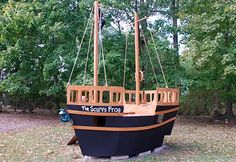 The Princess and The Frog Blog: Pirate Ship Playhouse