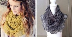Darling Ruffle Knit Infinity Scarves