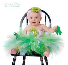 Sweet Little Shamrocks St. Patricks Day Tutu Dress-