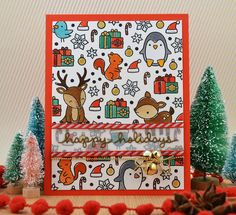 Lawn FAwn / Toboggan Together / Cheery Christmas Cozy Christmas, Christmas Crafts, Christmas Ideas, Xmas Cards, Holiday Cards, Lawn Fawn Blog, Lawn Fawn Stamps, Scrapbook Cards, Scrapbooking
