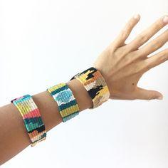 Which one do you like most? #bracelet #pulseiras #handmade #hechoamano #tejer #telar #fiberartist #wovenart #colours #cotton #bohochic #hippie #weaving #tapestry #tissage #fiberart #creativewomen #creativity #cosasbonitas #diy #crafts #goldcoast #queensland #australianmade #wrist #gift #beachlife #tapeçaria