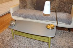 Items similar to Coffee Table Retro Vintage Mid Century Style painted in Frenchic Lady Grey & Pea Soup Green Chalk Paint by Lears Creative Interiors on Etsy Furniture, Coffee Table Upcycle, Buy Furniture Online, Furniture Ads, Furniture Dolly, Retro Furniture Makeover, Retro Furniture, Online Furniture, Coffee Table