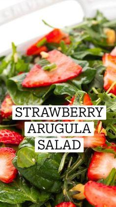 Side Salad Recipes, Healthy Salad Recipes, Vegetarian Recipes, Strawberry Salad Recipes, Easy Salads, Summer Salads, Kitchen Recipes, Cooking Recipes, Nutrition Food List