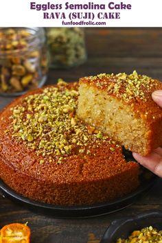 Eggless Desserts, Eggless Recipes, Eggless Baking, Healthy Cake Recipes, Delicious Cake Recipes, Sweet Recipes, Baking Recipes, Yummy Cakes, Snack Recipes