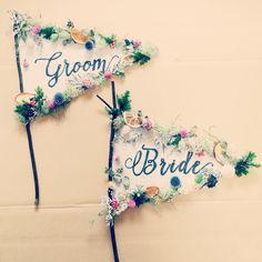 結婚式の撮影小物、旗の形の「フラッグプロップス」のデザインまとめ | marry[マリー]