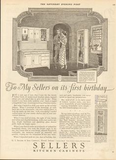 1924 sellers kitchen cabinet ad