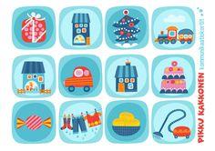 Kommunikaatiokortit   lapset   perhe   koti   arki   kalenteri   askartelu   paperi   paper   DIY ideas   communication   communication card   kid crafts   Pikku Kakkonen   yle.fi/lapset