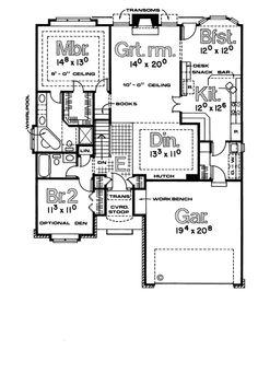 European House Plan 97999 Level One