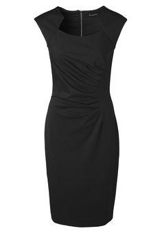 Jerseykleid Das kleine Schwarze in eleganter Form: Mit Stil und Charme begeistert das Jerseykleid auf ganzer Linie, jedoch ohne dabei auf Komfort zu verzichten. Das stabile Material formt die Silhouette in schlanke Konturen und bietet neben Gehschlitz, leicht überschnittenen Schultern und einem originellen Ausschnitt ein raffiniertes Design, wie man es auf den ersten Blick gar nicht vermutet...