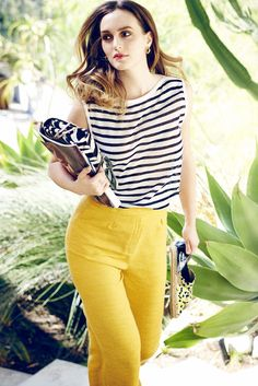 Leighton Meester carries the Jimmy Choo Alba bag and Dreya espadrilles in her Spring Summer Style Diary