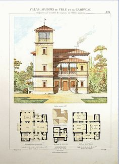 Original Antique Architectural Print by Printvilla4you on Etsy