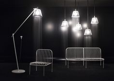 Surreal Shower Lights by Nendo http://www.mymodernmet.com/profiles/blogs/nendo-surreal-shower-lights