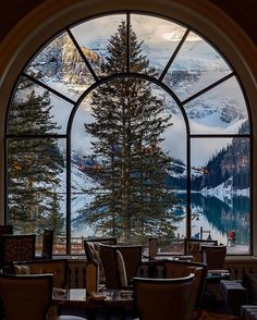 Room with a view at the Fairmont Lake Louise, Alberta. Dear lord take me there!