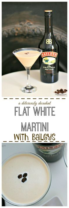 Love Baileys Love Coffee Then make this absolutely gorgeous Flat White Martini Cocktail- Cherished By Me