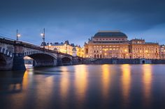 National Theatre, Cityscapes, Prague, Beverly Hills, Milan, Instagram Images, Mansions, House Styles, Building