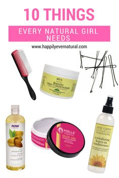 Going natural? check out 10 Things Every Natural Girl Needs to have in their stash!