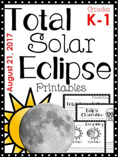 The printables are basic and easy for lower elementary students to understand what will be happening on August 21, 2017.  Printables included:Draw the Solar Eclipse Path on the MapPredict what will happen during the total eclipse. Record where you will experience the eclipse.