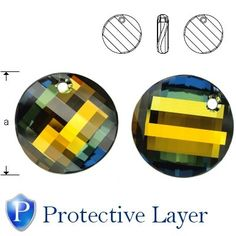 6621 Twist 28mm Crystal Tabac Protective Layer  Dimensions: 28,0 mm Colour: Crystal Tabac Protective Layer 1 package = 1 piece