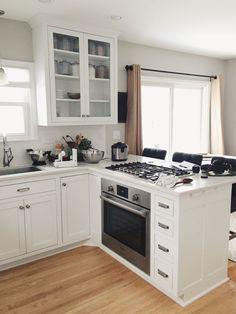 küche l-form kleine küche in weiß einrichten | Küche Möbel ...