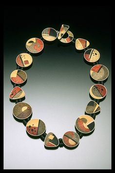 Judy Kuskin necklace - polymer and silver