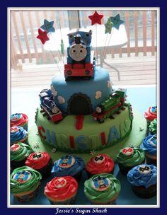 Thomas the train b-day cake