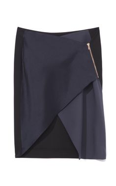 Cedric Charlier Two Tone Wrap Skirt