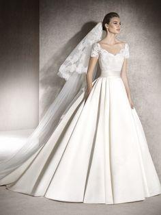 MELISA vestido de noiva decote em V